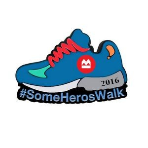 Some Heros Walk Ribbon Walk Sneaker Pin