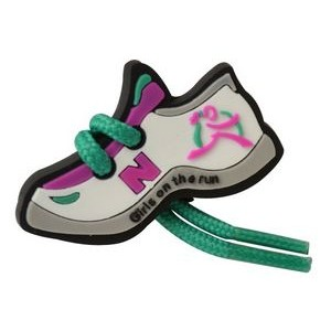 Girls on the Run Sneaker Pin w/Real Shoelaces